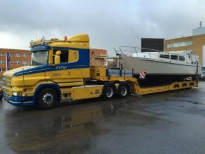 Aqualine 35 onderweg naar Boot Holland